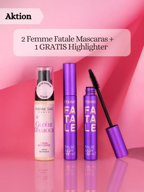 Vivienne Sabo - 2 Femme Fatale Mascaras  + Gratis Cream Highlighter Gloire d'Amour.